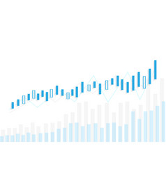 Stock and graph design background business graph vector
