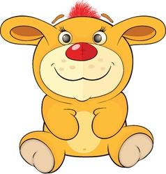 Toy yellow bunny cartoon vector image
