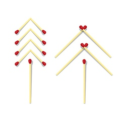 Trees Symbols Made from Matches vector image