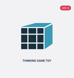 two color thinking game toy icon from toys vector image