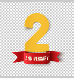 Two years anniversary design template vector