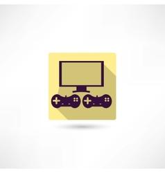 video games icon vector image