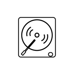 vinyl player icon vector image