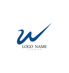 w logo and symbol business vector image