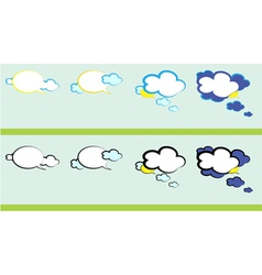 weather talk vector image