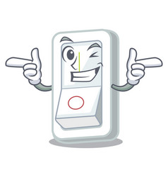 Wink light switch attaches the character wall vector