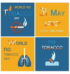 wntd world no tobacco day celebrated on 31 may vector image