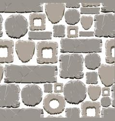 cartoon style stones seamless pattern vector image