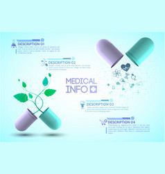 medical info poster vector image vector image