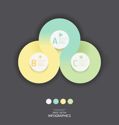 Modern Circle Design soft color template vector image vector image