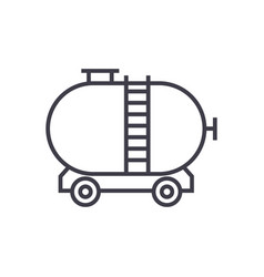 oil tank line icon sign on vector image