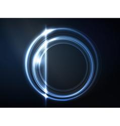 Blue circular frame vector image