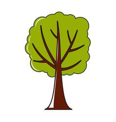 tree icon in cartoon style vector image