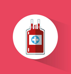 bag blood plastic cross care vector image