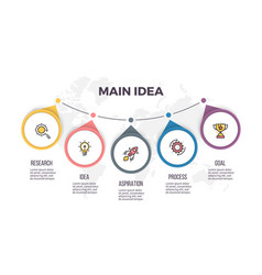 business infographics timeline with 5 steps vector image vector image