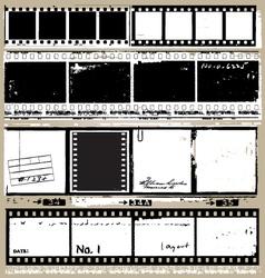 grunge film elements vector image vector image