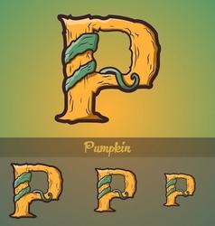 Halloween decorative alphabet - P letter vector image vector image