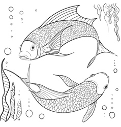 Hand drawn ink pattern coloring book for adult vector