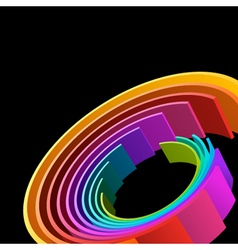 Abstract 3d Circle Rings Background vector image vector image