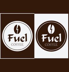coffee shop logo design labels template vector image
