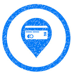credit card pointer rounded grainy icon vector image vector image