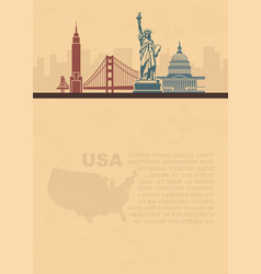 template leaflets with a map and architectural vector image vector image