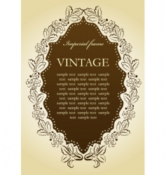 vintage vignette frame vector image vector image