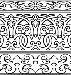 1 Set of decorative borders vintage style vector image
