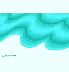 abstract blue wavy sea pattern design decoration vector image