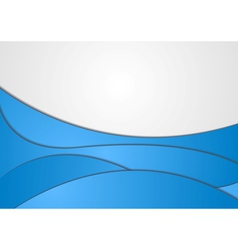 Abstract elegant wavy design vector image