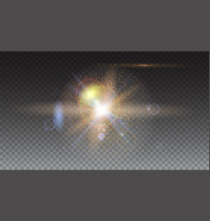 Abstract sparkling light rays and lighting flare vector