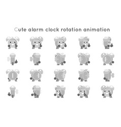 alarm clock cute child ticker kid character icons vector image vector image