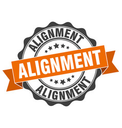Alignment stamp sign seal vector
