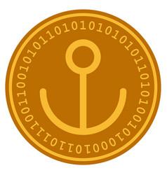 anchor digital coin vector image