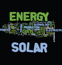 Arguments against solar energy text background vector