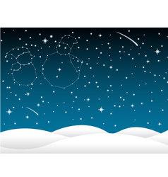 Background christmas in sky full of stars vector image