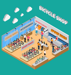 bicycle colored composition vector image