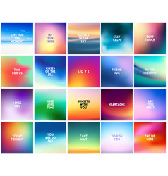 big set of 20 high quality square blurred nature vector image