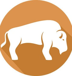 Bison Icon vector image