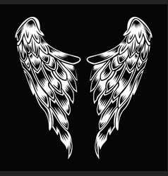 Black wings logo wing brand and logotype wi vector