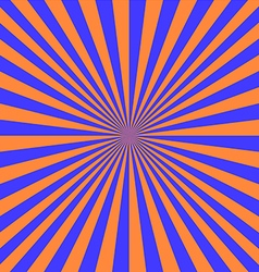 Blue orange sunray vector