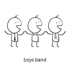 Boys Band vector