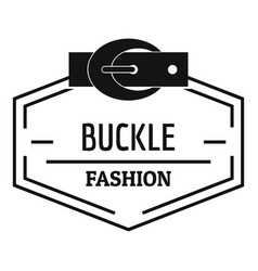 Buckle connect logo simple black style vector