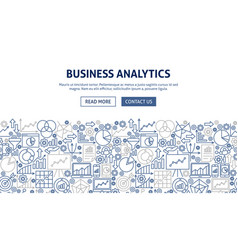 Business analytics banner design vector