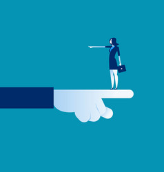 businesswoman pointing direction different vector image