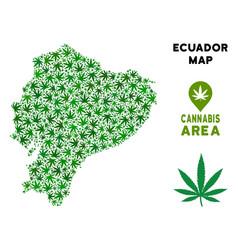 Cannabis mosaic ecuador map vector