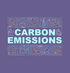 carbon emissions word concepts banner vector image