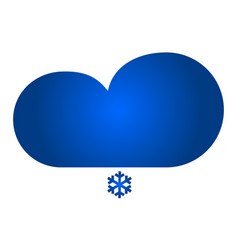 cloud with snow icon vector image