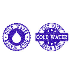 cold water grunge stamp seals vector image
