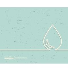 Creative water drop Art vector